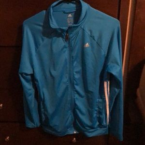 Adidas blue zip up sweater